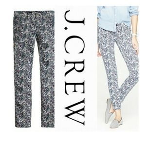 J Crew Liberty Floral Ankle Pant 28